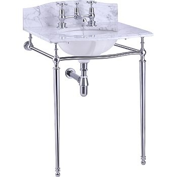 Marble wc sink amp chrome legs bath remodel pinterest