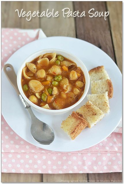 More like this: vegetables , pasta and soups .