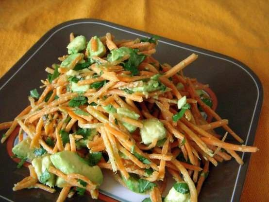 Avocado carrot salad | Foodie's Delight | Pinterest