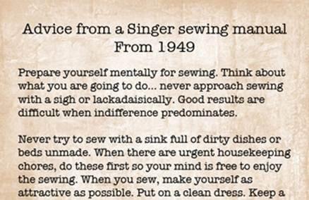 1949 singer sewing machine manual