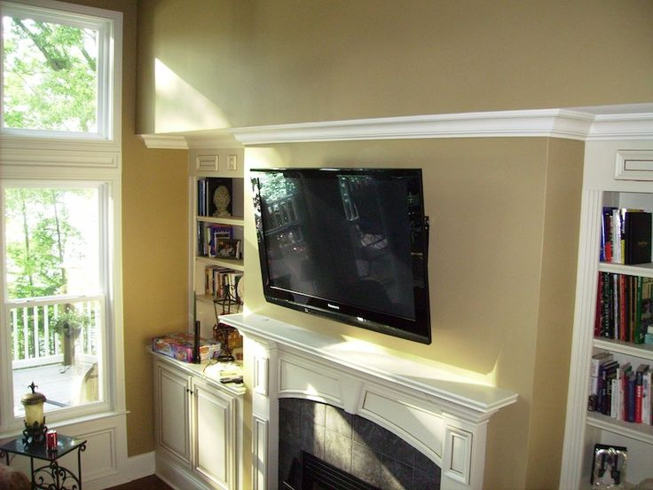 Tv over fireplace decorating ideas pinterest for Tv over fireplace ideas