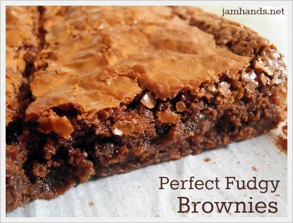 Perfect Fudgy Brownies | Brownie Recipes | Pinterest