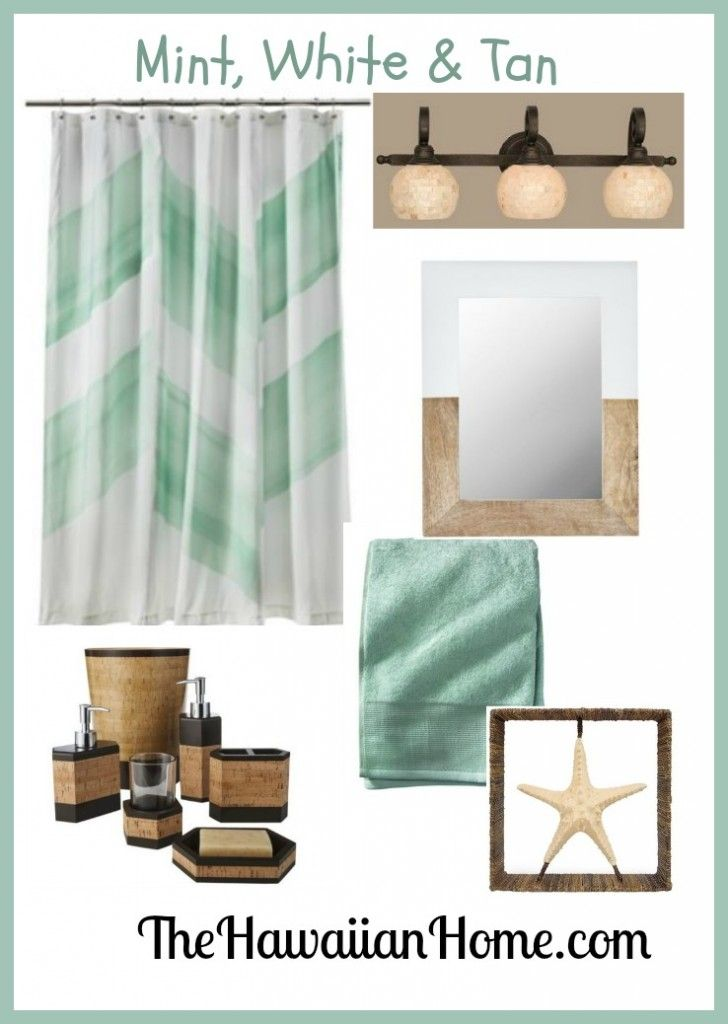 beachy mint green bathroom for the home