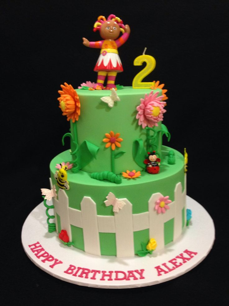 Upsy Daisy Cake Decoration : In the night garden birthday cake starring Upsy Daisy Made ...