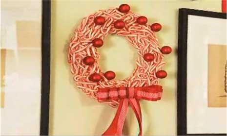 Making a Candy Cane Wreath