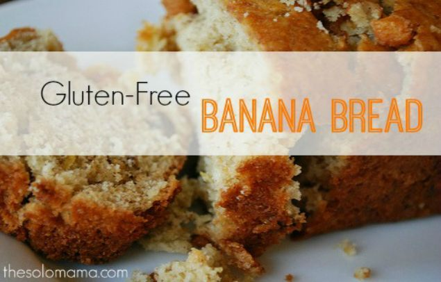 ... Free Banana Bread | http://thesolomama.com/gluten-fee-banana-nut-bread