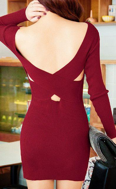 sweet  open back dress