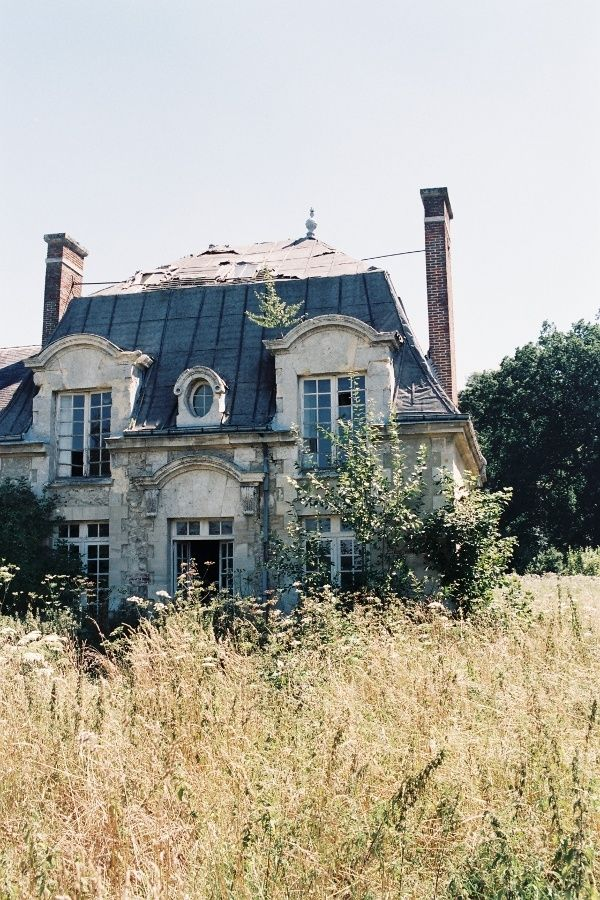 Abandoned manor house near paris home is where the for French countryside house