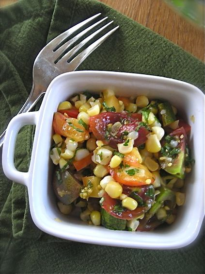 Herbed Sweet Corn and Tomato Salad | Salads | Pinterest