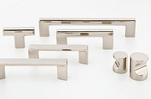 Emtek polished nickel cabinet hardware cabinet knobs and pulls - Contemporary kitchen door handles ...