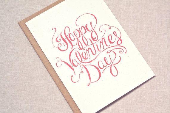 Valentine s day card happy calligraphy