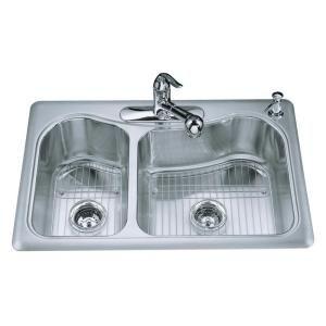 Kohler Staccato Sink : Sink. different faucet. KOHLER, Staccato Large/Medium Self-Rimming ...