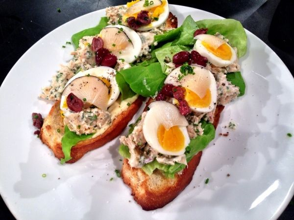 Tuna Nicoise Tartine | Recipes to Try | Pinterest