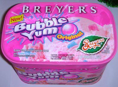 Breyers Bubble Yum ice cream | Bubble Yummmmm | Pinterest