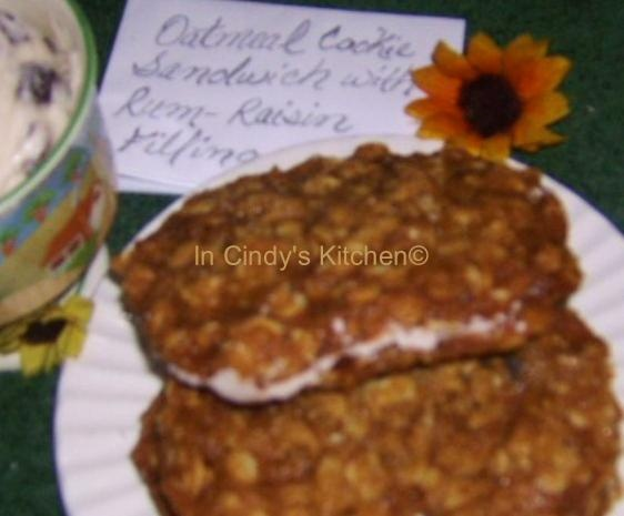 In Cindy's Kitchen: Oatmeal Cookie Sandwiches With Rum-Raisin Filling ...