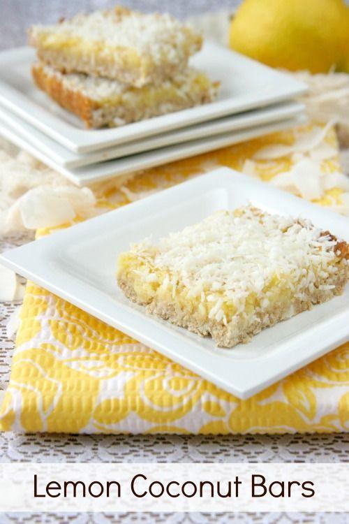 Lemon Coconut Bars | DailyBitesBlog.com | Spring/Summer Cooking | Pin ...
