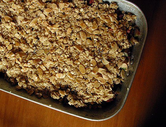 Basic Oat Crumble for topping anything from breads to baked fruit to ...