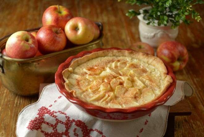 Apple Custard Pie | Food | Pinterest