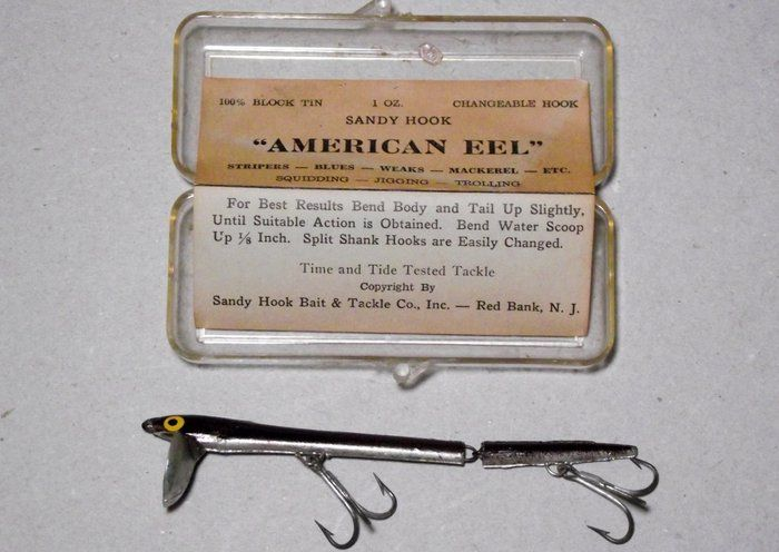 American eel strange vintage fishing lure new in box for Weird fishing lures