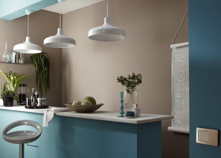 Emejing Cuisine Bleu Turquoise Et Taupe Gallery - Design Trends ...