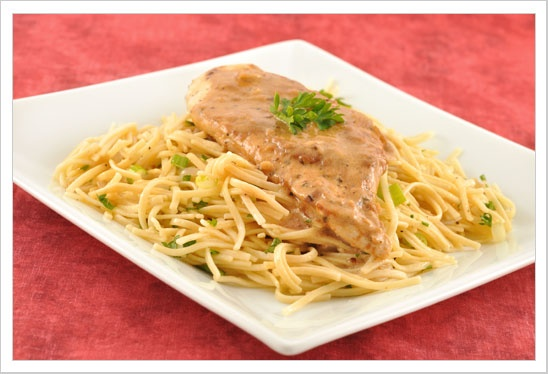 Chicken With Sherry-Mustard Cream Sauce: love those calories