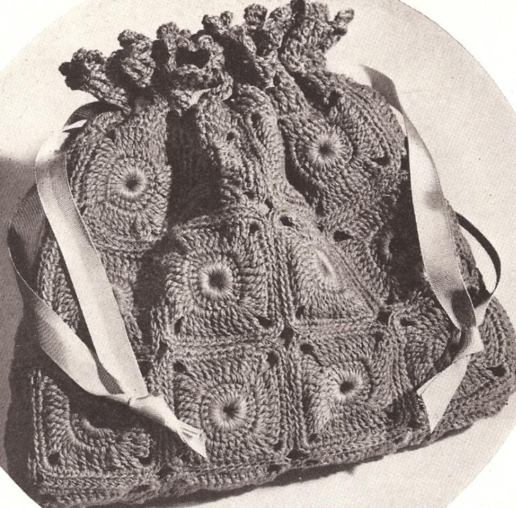 Vintage Crochet Clutch Pattern : Motif Clutch Vintage Crochet Pattern Craft: Crochet-Bags Pinterest