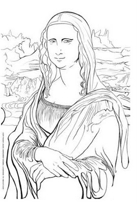 mona lisa coloring pages - photo#6