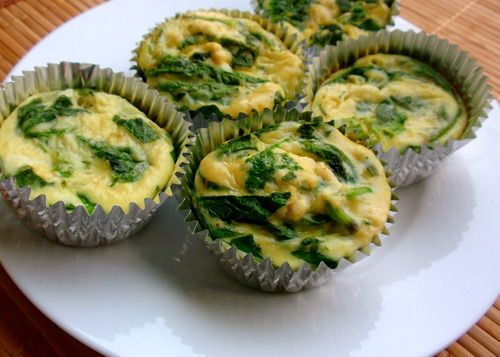 Frittatas 1 cup Spinach 3 Extra Large Eggs 1/2 cup + 1 Tbsp Liquid Egg ...