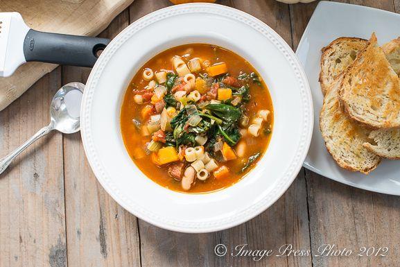 Winter Minestrone and Garlic Bruschetta   Recipe