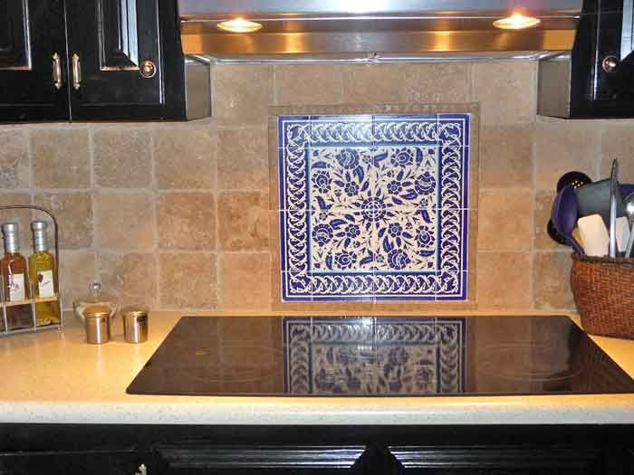 Blue And White Tile Backsplash Home Decorating Interior Design