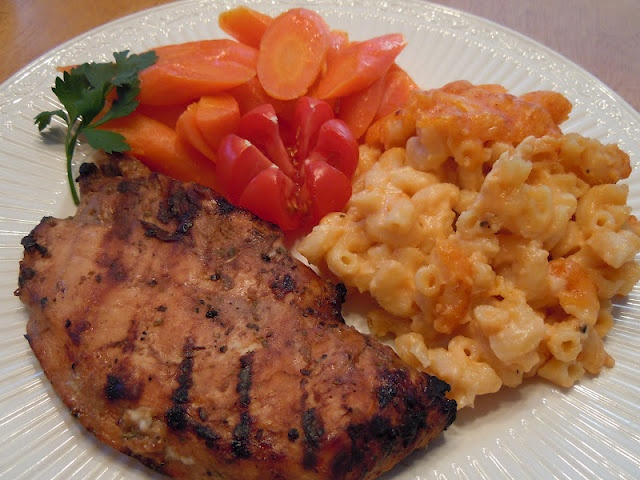 Grilled Chicken marinated w/ Dijon Balsamic Marinade...delicious!