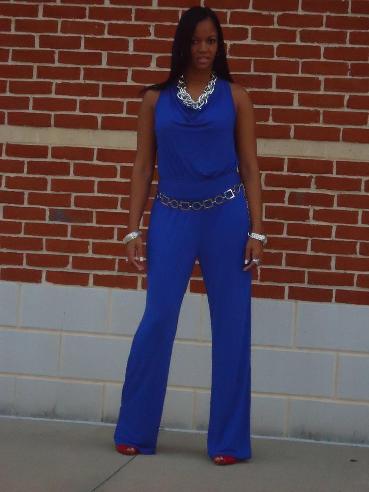 Blue Jumpsuit   Women's Fashion