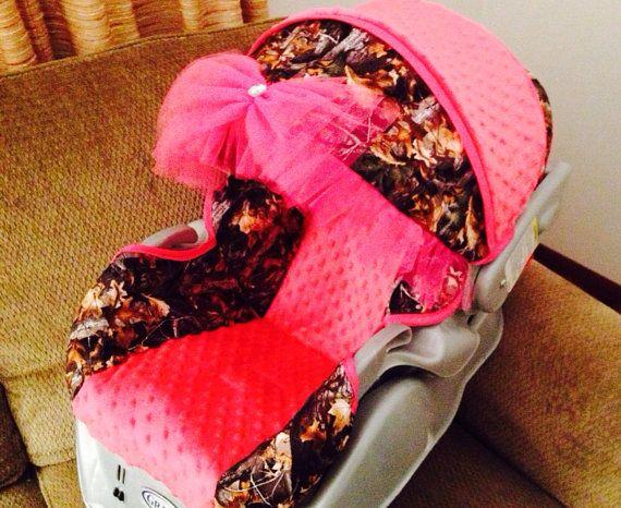 Custom Baby Girl Camo Carseat Cover