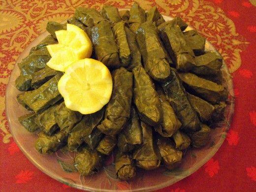 Armenian Stuffed Grapeleaves - A Vegan Appetizer