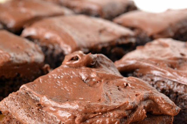 Chocolate Fudge Brownies with Chocolate Buttercream - The View from ...