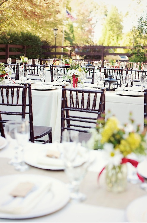 Pin by hawkesdene a destination wedding venue on table for Garden wedding table settings