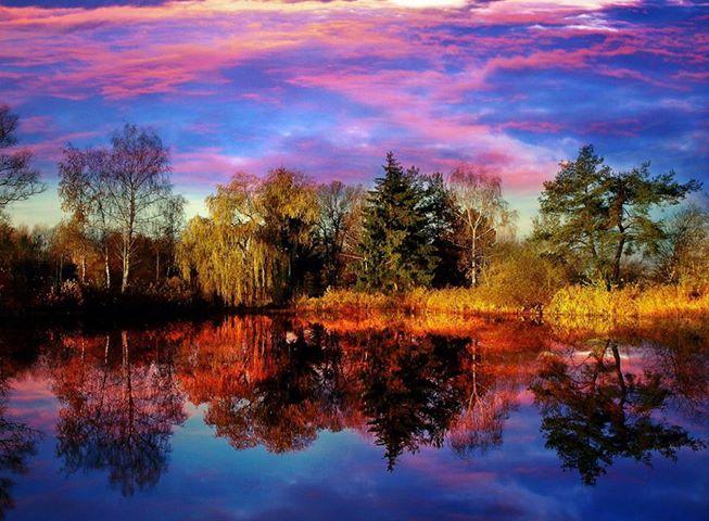 Reflections beautiful scenery pinterest