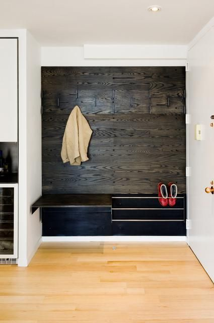 Mudroom cubby with hooks, bench and shoe storage
