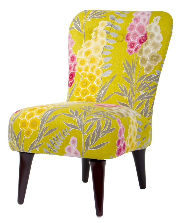 Floral upholstered chair coisas chiques diversos tons pinterest