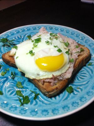 or Midnight Snack: Toasted whole grain sandwich toast, smoked ...