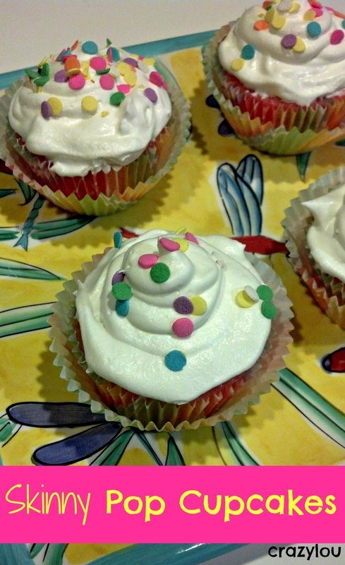 Skinny Pop Cupcakes--diet pop and cake mix--topped with l.f. cool whip ...