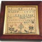 Small Pennsylvania Sampler by Catherine Rife 1804