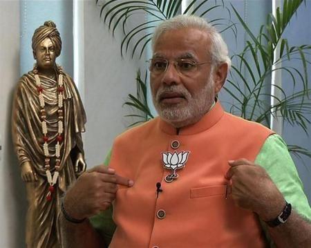 4月16日、インド次期首相の最有力候補と目される最大野党インド人民党のナレンドラ・モディ氏は、核の先制不使用の原則を堅持する考えを示した。ANI通信のテレビインタビューで語った。ANI提供写真(2014年 ロイター) ▼17Apr2014Reuters インド最大野党の首相候補、核の先制不使用…   PinterestCancelForwardPinCancelCancelCancelCancelCancelCancelForwardForwardForwardForwardForwardForwardForwardForwardForwardForwardSearchfacebook