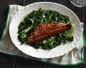 Seabass with Asian greens is a tasty Chinese recipe that is both ...
