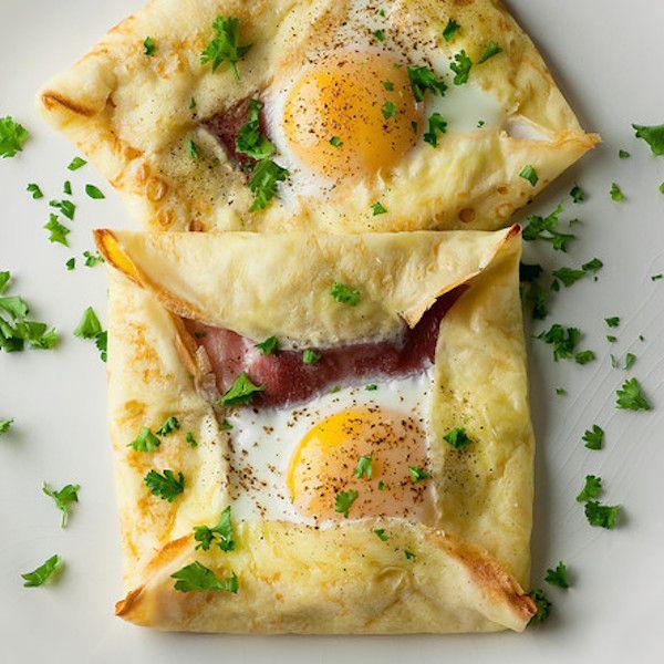 Ham and Egg Crepe Squares | Breakfast recipes | Pinterest