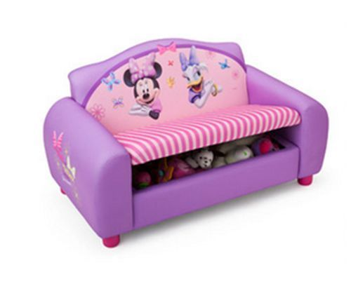 Disney Minnie Mouse Sofa Storage Kids Play Furniture Bedroom Nursery