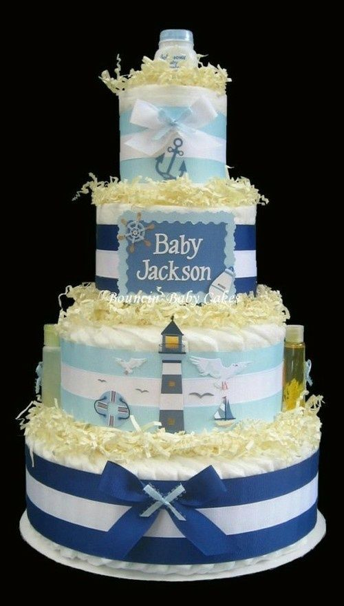 baby shower cakes nautical baby shower cake nautical shower isabella s