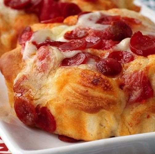 Pepperoni-Pizza Monkey Bread - making this with turkey pepperoni for ...