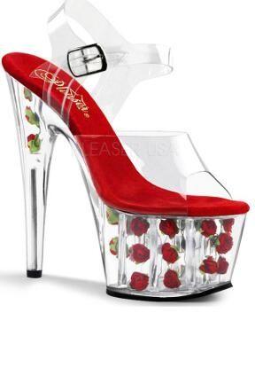 High Heel Shoes Flower Filled Platform Shoes 505 |2013 Fashion High