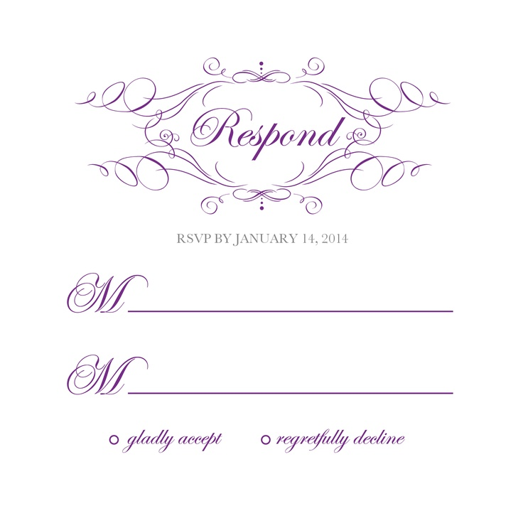 Free Rsvp Card Template damask - free wedding invitation template